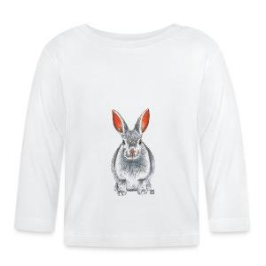Baby T-Shirt *Hase* - Baby Langarmshirt