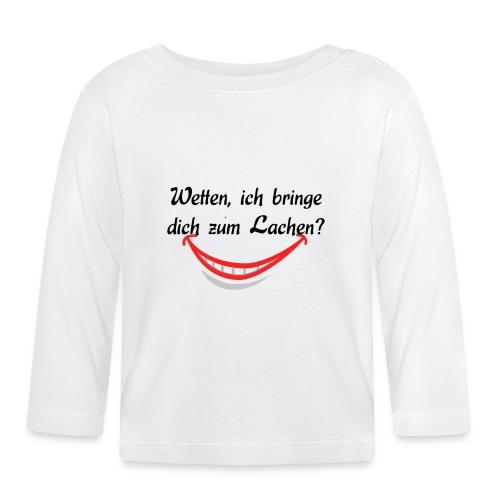"Shirt ""Lachen"" - Baby Langarmshirt"
