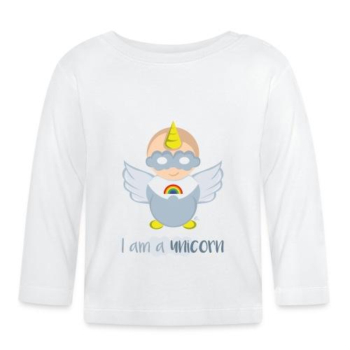 """T-Shirt Bébé """"I am a unicorn"""" - T-shirt manches longues Bébé"""