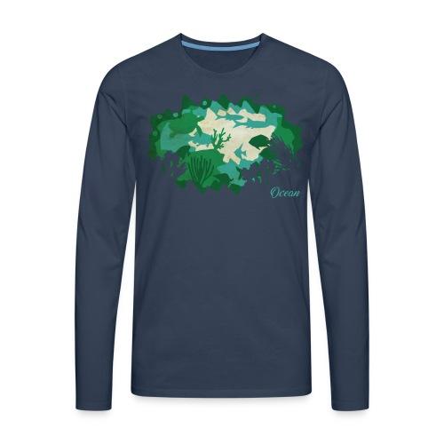 PaperCut – Ocean – Langarmshirt - Männer Premium Langarmshirt