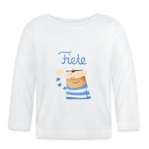 'Hello' Fiete Baby Longsleeve - white - Baby Langarmshirt
