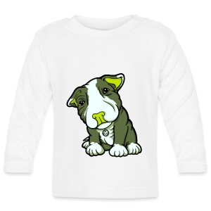 Pit Bull Terrier Puppy Greens - Baby Long Sleeve T-Shirt