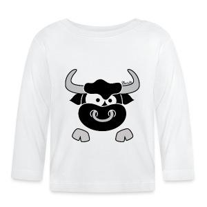 T-shirt ml Bébé Tête Taureau, Bull, Force, Zodiaque - T-shirt manches longues Bébé