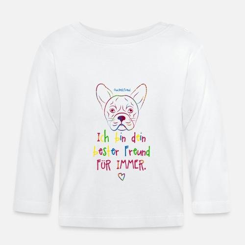 Bester Freund Frenchie - Baby Langarmshirt - Baby Langarmshirt