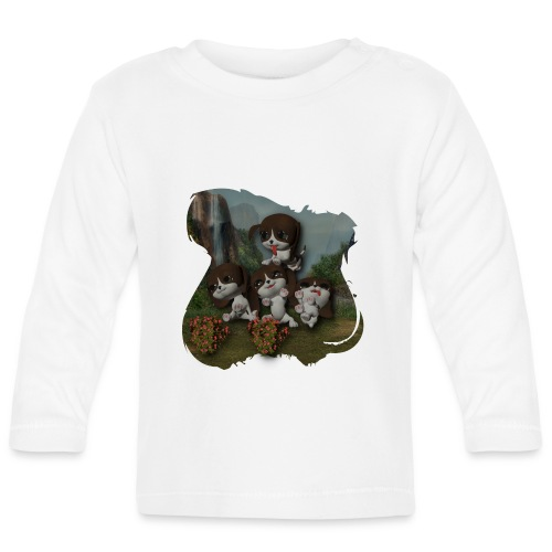 Vier spelende puppies - Baby Long Sleeve T-Shirt