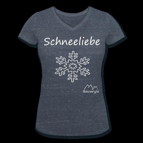 Bio Shirt für Damen Schneeliebe - Frauen Bio-T-Shirt mit V-Ausschnitt von Stanley & Stella