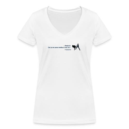 T-shirt - Fraissinet - Quand vient la joie - T-shirt bio col V Stanley & Stella Femme