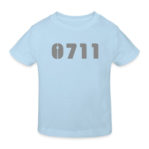 KINDER BIO-SHIRT SILBER-GLITZER - Kinder Bio-T-Shirt