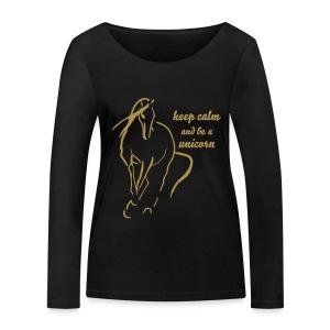 be a Unicorn  - Frauen Bio-Langarmshirt von Stanley & Stella