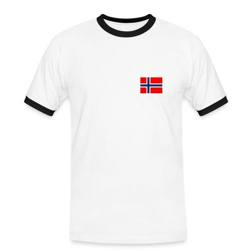 Norge - Kontrast-T-skjorte for menn