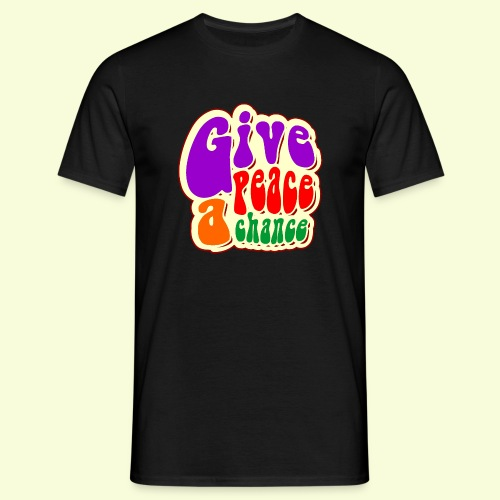 Retro Give peace a chance - Men's T-Shirt