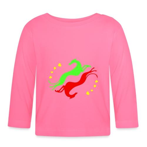 Lévrier Valentin - T-shirt manches longues Bébé