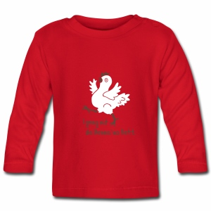 Mit de Henna ins Bett, Allgäu, Spruch, lustig, Huhn, Henne, Tier - Baby Langarmshirt