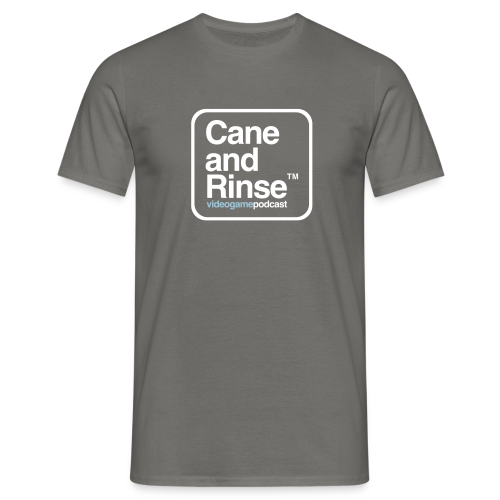 Graphite Grey Cane and Rinse boxed logo - Men's T-Shirt