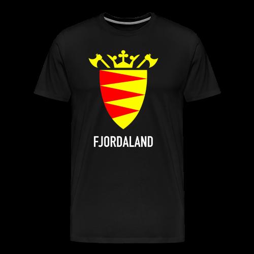 Fjordaland - Premium T-skjorte for menn