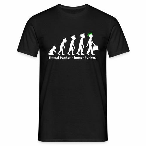 Einmal Punker / Man sw-neongrün - Männer T-Shirt