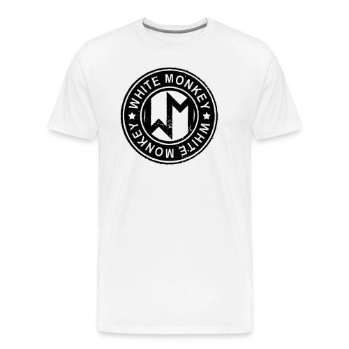 WM Logo stamp, White T-Shirt - Premium-T-shirt herr