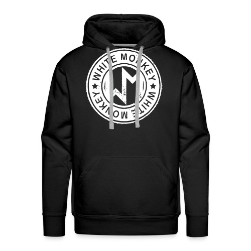 WM Logo stamp, Black Hoodie - Premiumluvtröja herr