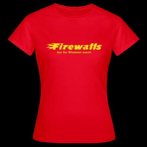 T-shirt dam, Firewalls are for Windows users - T-shirt dam