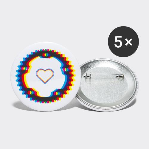 Fahrrad Liebeserklärung - Buttons mittel 32 mm (5er Pack)