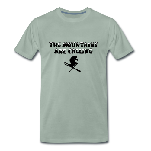 Mountains are Calling Ski T-Shirt für Skifahrer - Männer Premium T-Shirt