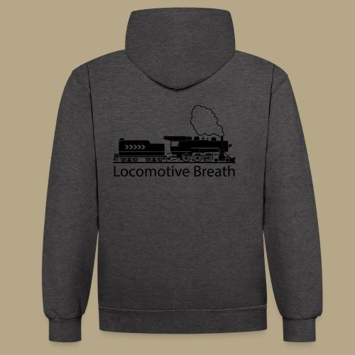Locomotive breath - Kontrast-Hoodie