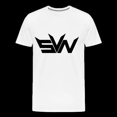SVN text logo shirt white  - Mannen Premium T-shirt