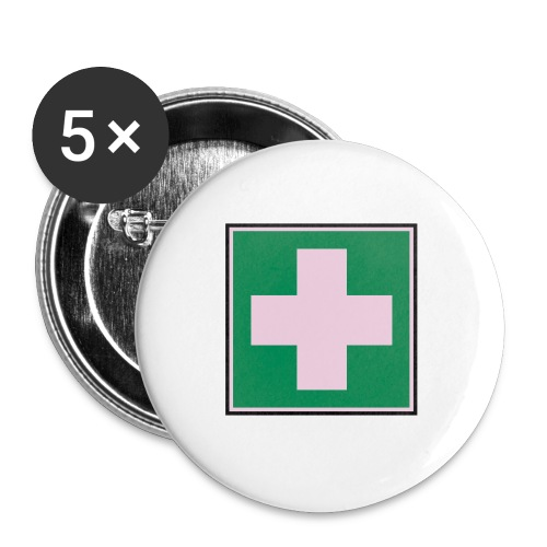 First Aider Button - Large - Buttons large 2.2''/56 mm (5-pack)