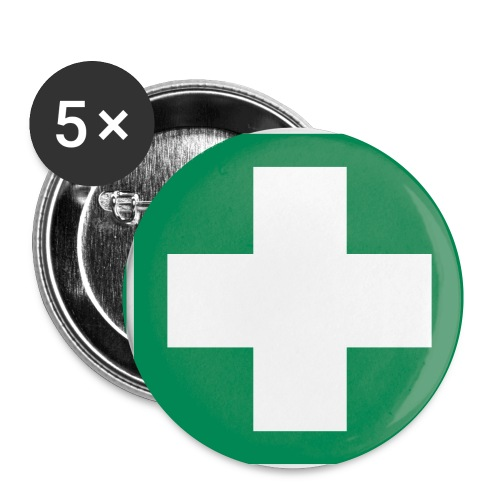 First Aider Button - Small - Buttons small 1''/25 mm (5-pack)
