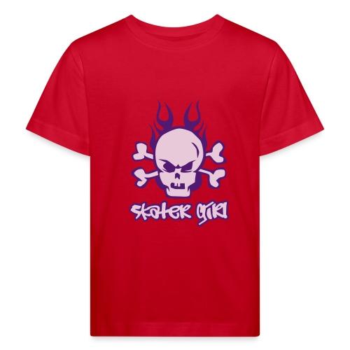 T-skjorte skater girl. - Økologisk T-skjorte for barn