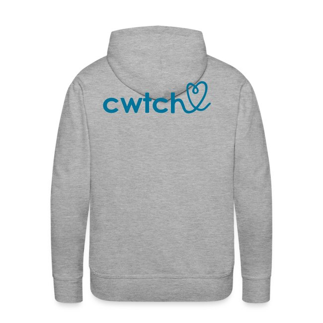 Cwtch with heart hoodie rear print.. one of our new favourites