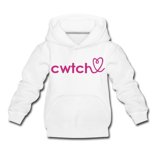 Cwtch with heart girls childs hoodie..lovely!!! - Kids' Premium Hoodie