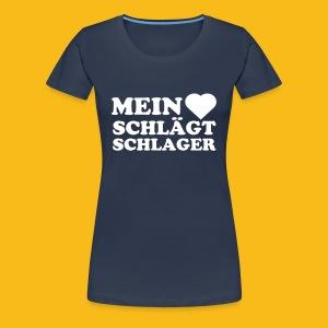 Herz schlägt - Frauen Premium T-Shirt