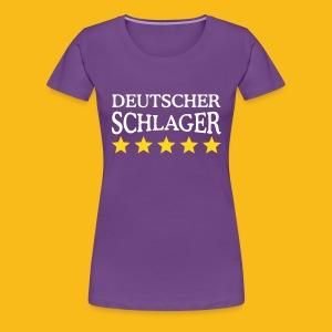 Schlager Sterne - Frauen Premium T-Shirt