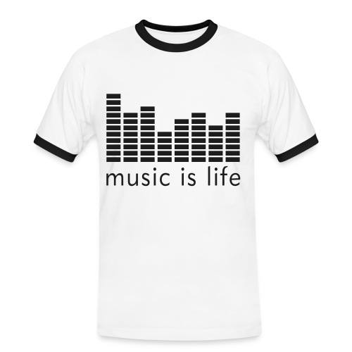 Music is life - Men's Ringer Shirt