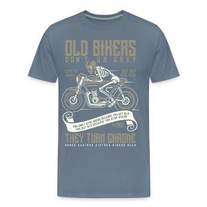 Old Bikers Turn Chrome - Men's Premium T-Shirt