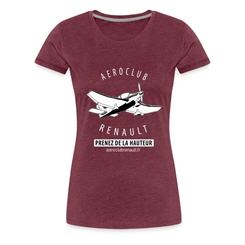 T-shirt femme (bordeaux chiné) - T-shirt Premium Femme