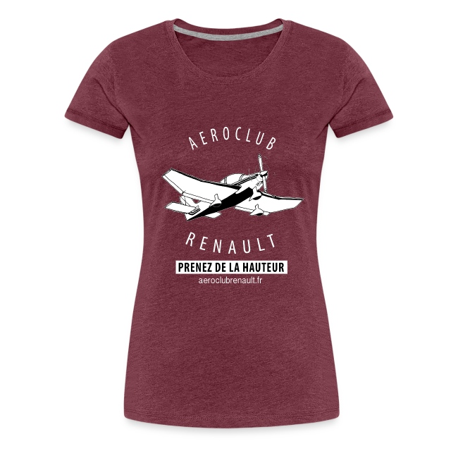T-shirt femme (bordeaux chiné)