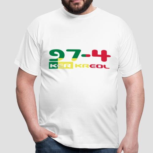 T-shirt Homme écriture 974 Ker Kreol Rasta - T-shirt Homme