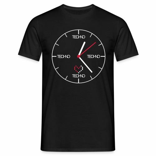 Techno Time - T-Shirt - Männer T-Shirt