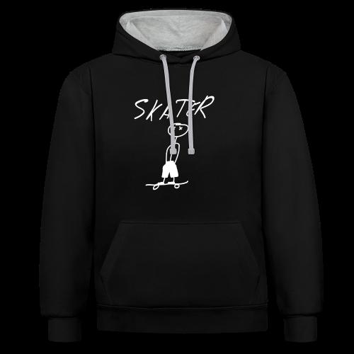 Skater contrast hoodie - Sudadera con capucha en contraste
