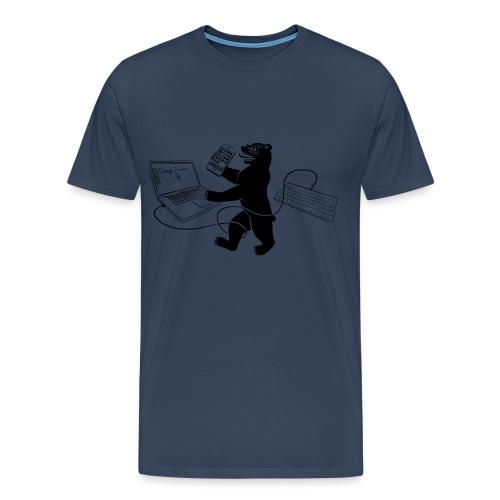 Men's T-Shirt - Berlin Bear (Navy) - Men's Premium T-Shirt