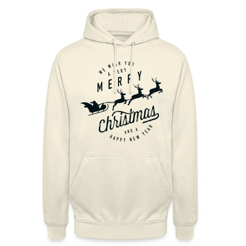 We Wish You A Merry Christmas & A Happy New Year Hoodie - Unisex Hoodie