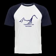 T-Shirts ~ Männer Baseball-T-Shirt ~ Geocaching Baseballshirt mit dem zweithöchsten Cache Deutschlands auf dem Watzmann