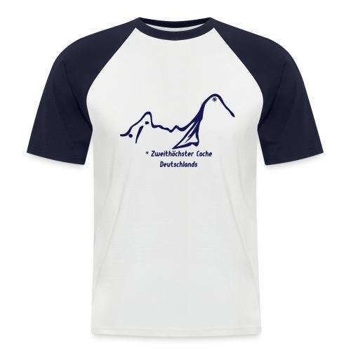 Geocaching Baseballshirt mit dem zweithöchsten Cache Deutschlands auf dem Watzmann - Männer Baseball-T-Shirt