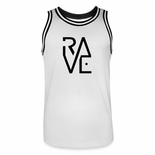 Rave Minimal Text - Trikot - Männer Basketball-Trikot