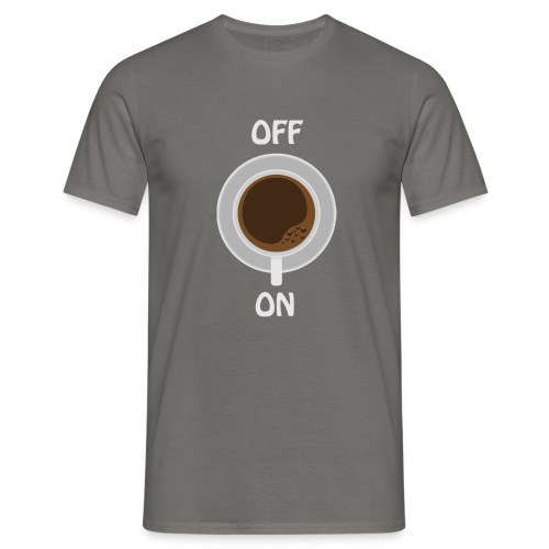 coffee on - white cup - Männer T-Shirt