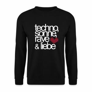 Techno Sonne Rave Liebe - T-Shirt - Männer Pullover