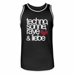 Techno Sonne Rave Liebe - Trikot - Männer Basketball-Trikot