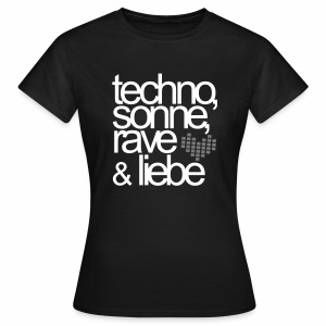 Techno Sonne Rave Liebe - T-Shirt - Frauen T-Shirt